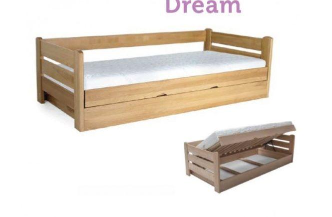 Łóżko dla singla Dream otwarte