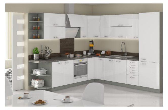 Ślepa kuchnia - meble kuchenne Bianca kolory biały połysk